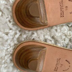Banana Republic Shoes - NWOT Zebra Print Espadrille Bow Slides kitten heel